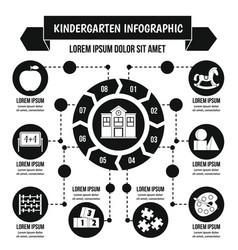 Kindergarten infographic concept simple style vector