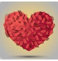 Herbal heart pink vector