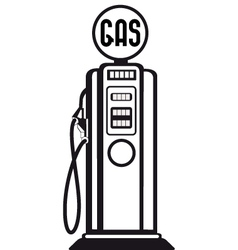 gasoline pump vector image