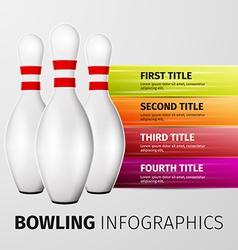 Bowling infographics vector