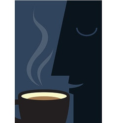Coffee smell vector