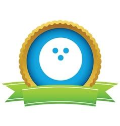 Gold bowling logo vector image
