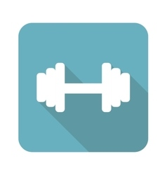 Square barbell icon vector
