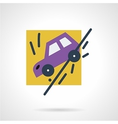 Auto accident flat icon vector