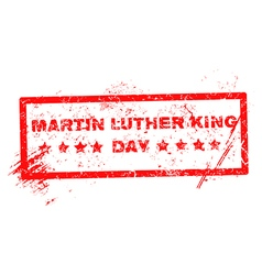 Martin luther king day grunge rubber stamp vector