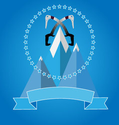 Logo icon badge for mountaineering club vector