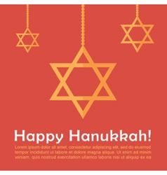Hanukkah card template vector