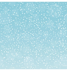 Snowfall pattern on gradient sky background vector