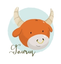 Nice taurus horoscope sign vector