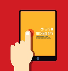 Technology template modern minimal flat design vector