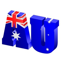 internet top-level domain of australia vector image
