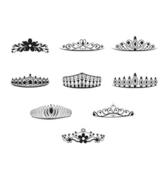 Tiara set vector