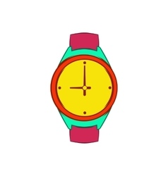 Wrist watch icon cartoon style vector