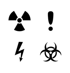 Set of black warning signs vector