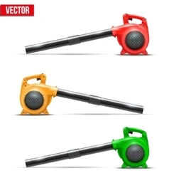 Bright leaf garden blowers vector