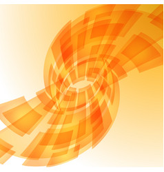 Abstract orange digital background for design vector