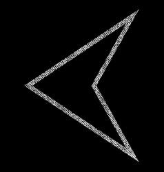 Arrowhead left fabric textured icon vector