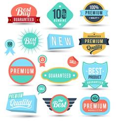 Badges tag label sticker colour set vector image