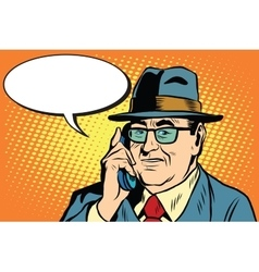 Business boss director says on the phone vector