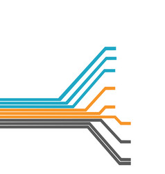 Circuit tree futuristic concept background vector