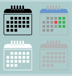 color white grey black calendar icon vector image