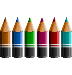 Coloured pencils vector image vector image