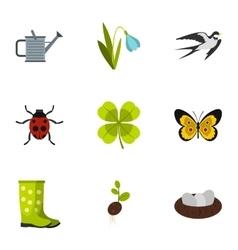 Garden maintenance icons set flat style vector