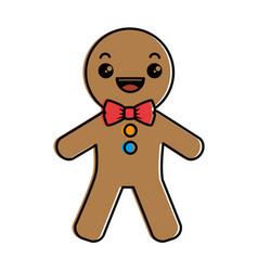 Ginger bread kawaii character vector