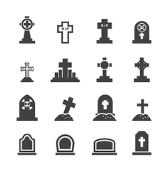 graves icon vector image