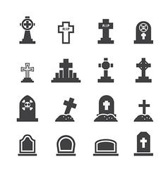 Graves icon vector