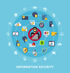 information security composition vector image