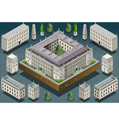 Isometric european historic building vector