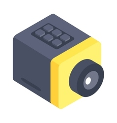 Isometric web camera icon isolated on a white vector image