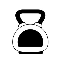 Kettlebell weight lifting icon image vector