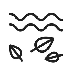Leaves in wind vector