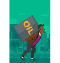 Man with oil can vector