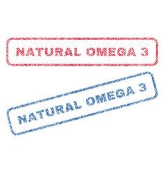 Natural omega 3 textile stamps vector