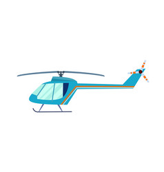 Private helicopter isolated icon vector