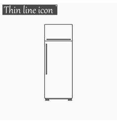 refrigerator Style thin line vector image vector image