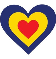 Romania Heart vector image vector image