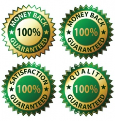 satisfaction guaranteed vector image vector image