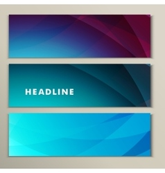 Set abstract bright picture pink purple blue vector image vector image