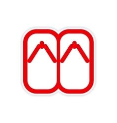 Sticker Japanese slippers vector image