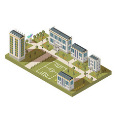 student quarter isometric landscape vector image vector image