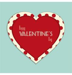 Valentine vintage background vector image vector image