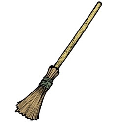 Broom vector image
