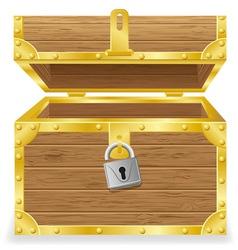 open antique chest vector image