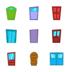 Barrier icons set cartoon style vector