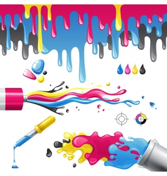 Cmyk splashes vector