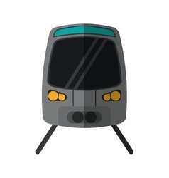 High speed train passenger rail road vector